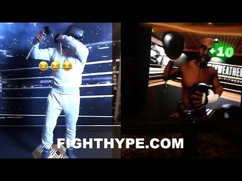 MAYWEATHER UNVEILS VIRTUAL REALITY FITNESS EXPERIENCE; BEHIND-THE-SCENES LOOK AT MAKING OF IT