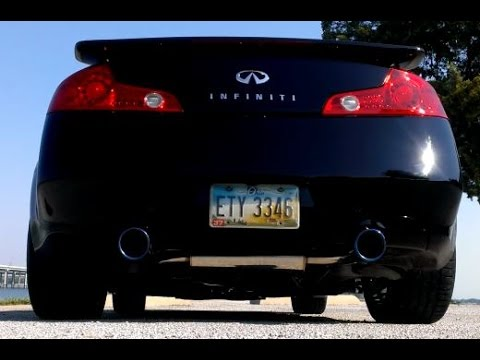 Infiniti G35 - Invidia Gemini Exhaust with Resonated Test Pipes