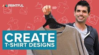 كيفية إنشاء الطباعة بناء على الطلب تي شيرت التصاميم في Printful هو نموذج بالحجم الطبيعي مولد