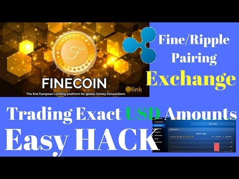 How To Use USD In Fine Coin/Ripple Exchange - Easy HACK!