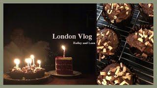 런던 일상 브이로그- 베이킹, 런던에서 생일, 강아지 …
