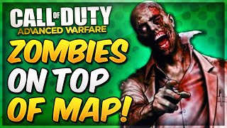 Advanced Warfare Zombies Glitches - ON TOP OF MAP Outbreak Glitch! (AW Exo Zombies Glitches)