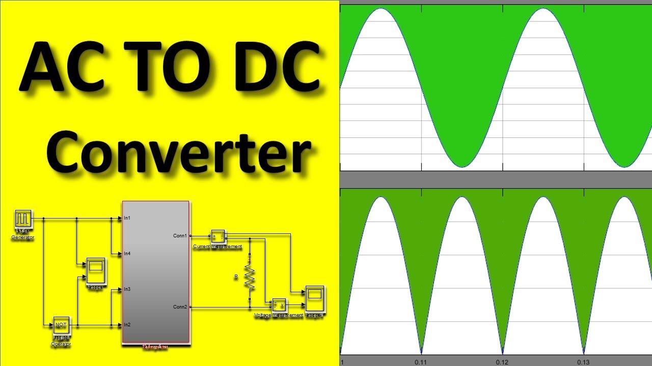 AC to DC Converter MATLAB Simulink Simulation Complete Tutorial