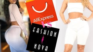 ALIEXPRESS clothing haul inspired by FASHION NOVA outfits