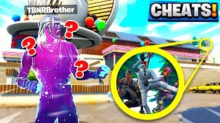 FORNITE DUSTY DINER HIDE AND SEEK! - WE ALL CHEATED against MY LITTLE BROTHER!