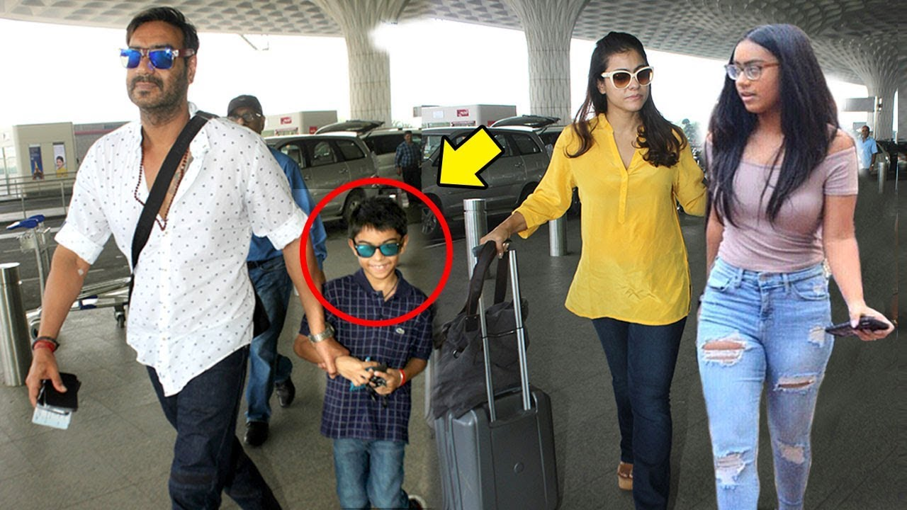 Ajay Devgn With Kajol & Children Son Yug & Daughter Nysa ...