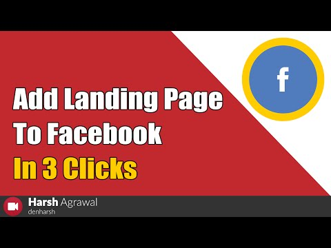 How To Add Landing Page To Facebook In 3 Clicks (2019)