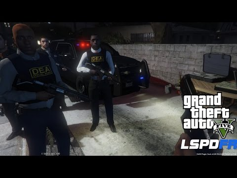 GTA 5 LSPDFR Police Mod Ep 49 | DEA Drug Enforcement Agency Patrol | Major Drug Bust On Grove Street