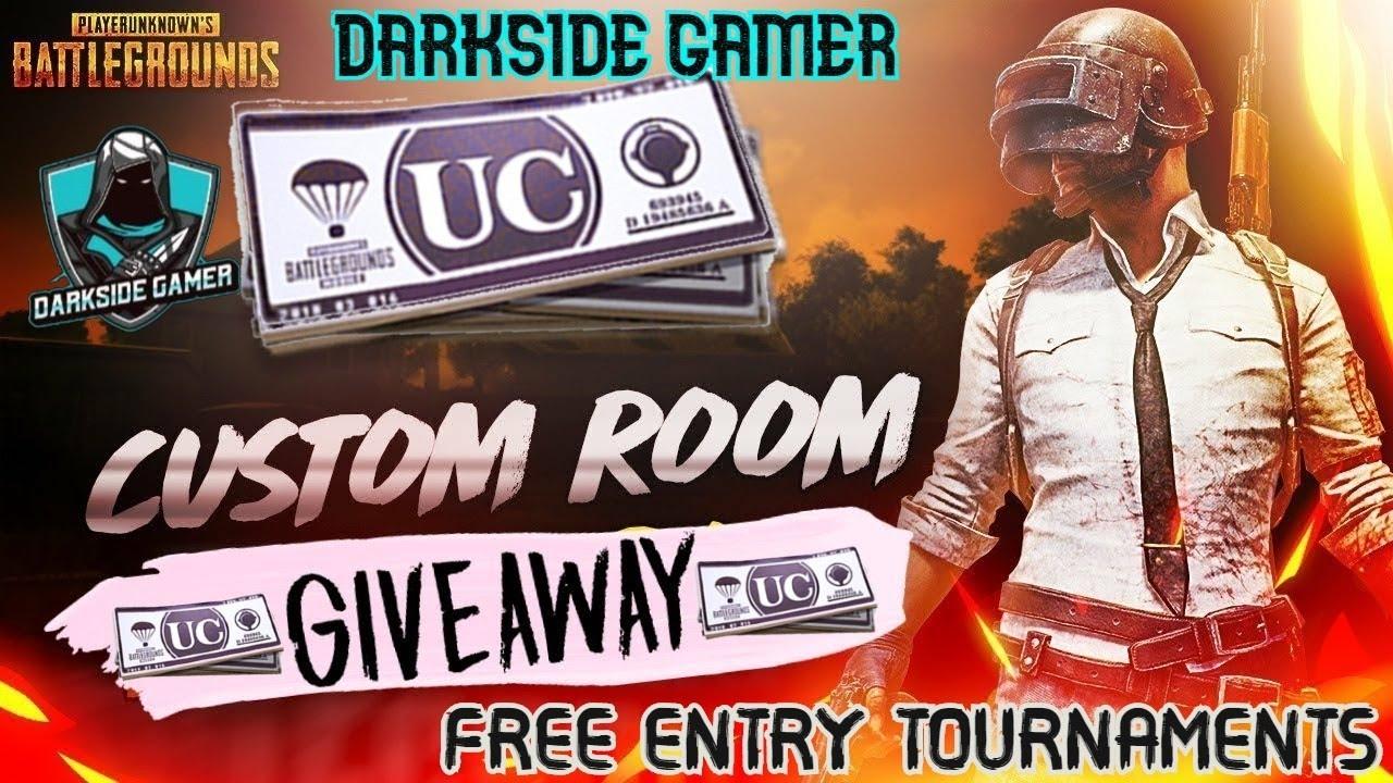 UC Giveaway 🔴 DSG Live Streaming | DarkSide Gamer PUBG | Friendly free custom Rooms