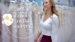 │SHOP WITH ME│15 WEDDING DRESSES IN ONE DAY! CHARLOTTE NC TRIP