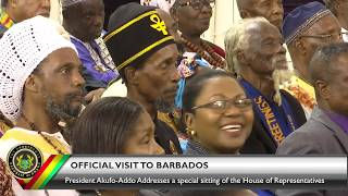 Address to a special sitting of the House of Representatives at the Barbados Parliament