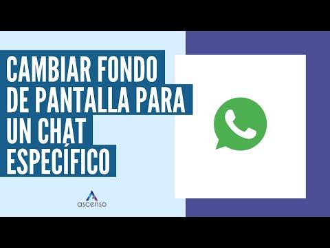 ¿Cómo cambiar el fondo de pantalla para un chat específico en WhatsApp?