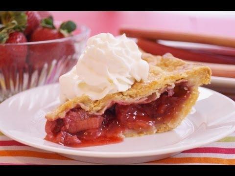 Strawberry Rhubarb Pie Recipe: From Scratch: Mom's Best: Diane Kometa-Dishin' With Di  #84