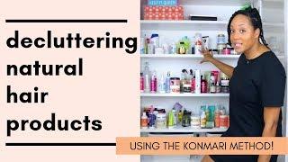 HUGE Natural Hair Product Declutter | KonMari Method