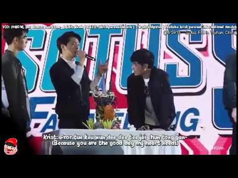[Eng Sub] Krist singing special song for wishing HBD to Singto