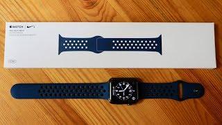 New Apple Watch Nike Sport Band Obsidian/Black: Unboxing