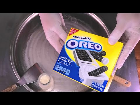 OREO Ice Cream Rolls | fried rolled Cookie...