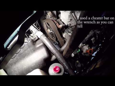 2005 Honda pilot Serpentine belt removal