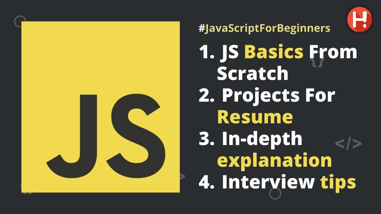 JavaScript Tutorial for Beginners | Learn JavaScript form scratch