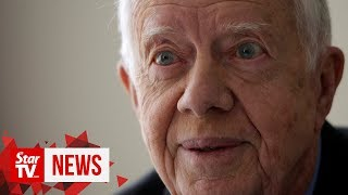 Jimmy Carter hospitalised for blood on the brain