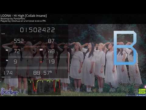 [Osu!] LOONA - Hi High [Collab Insane] (5.01*) 88.57%