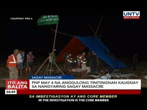 Dating magsasaka, itinuturing na person of interest ng PNP sa Sagay massacre