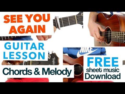 ► See You Again - Wiz Khalifa ★ EASY CHORDS & MELODY ★ GUITAR LESSON ✎ FREE TAB