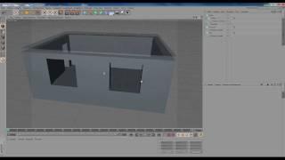 Cinema 4D. Интерьер комнаты. Стены, пол, потолок. Р1, Ч1