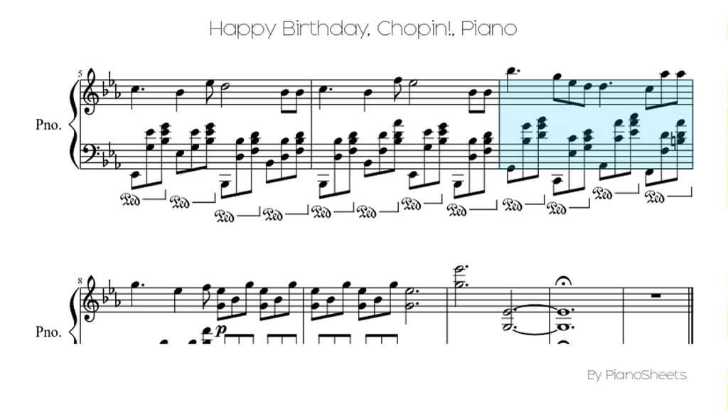Piano happy birthday piano sheet music : Happy Birthday, Chopin! [Piano Solo] - YouTube