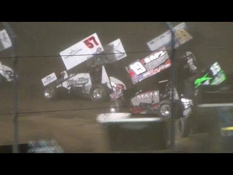 Kyle Larson vs.World of Outlaws A-Main @ Brad Doty Classic 2017