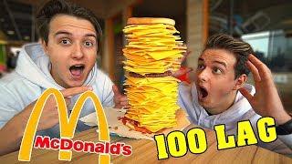 Bestiller cheeseburger med 100 LAG OST!! (MCDONALDS)