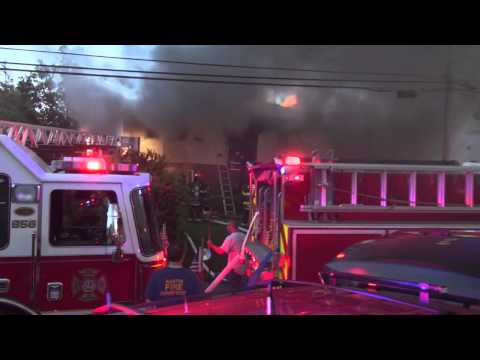 North Bellmore Monroe Ave, House Fire May 21, 2013