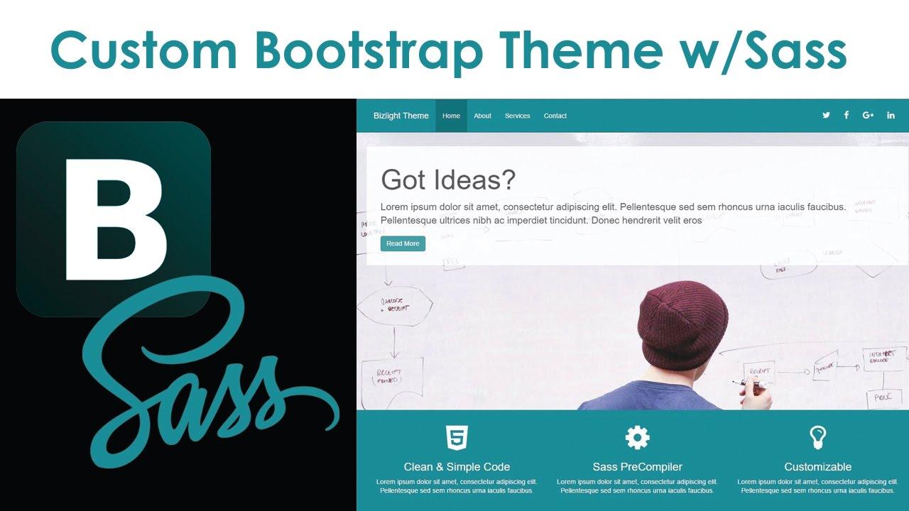 23aa1c3158 Custom Bootstrap Theme With Sass - YouTube