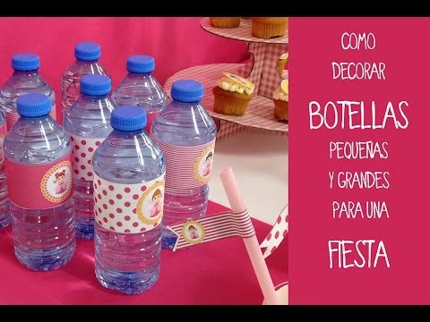 Botellas decoradas para fiestas aprende a decorar for Baules de plastico para jardin