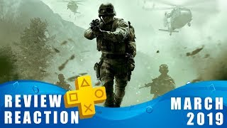 PS PLUS MARCH 2019 PS4 GAMES REVIEW + REACTION