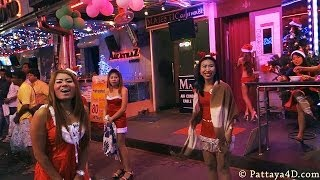 Pattaya Walking Street Nightlife GoGo Girs & Freelancer on Christmas Part1 HAPPY NEW YEAR 2014