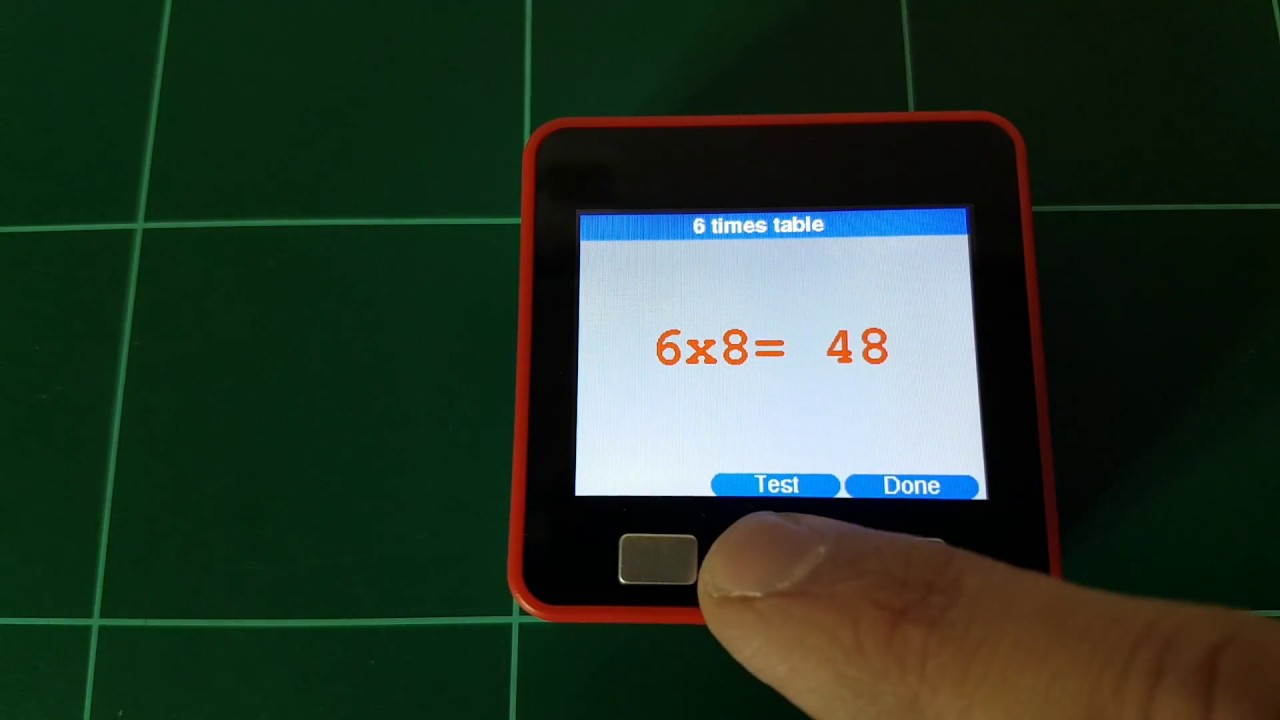 Learn the multiplication tables with an M5stack using the M5ez library