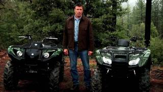 Video The Yamaha Grizzly 450 EPS versus Honda Rancher download MP3, 3GP, MP4, WEBM, AVI, FLV Agustus 2018