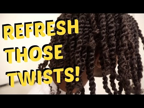HOW TO REFRESH TWISTS | Men's Natural Hair Care