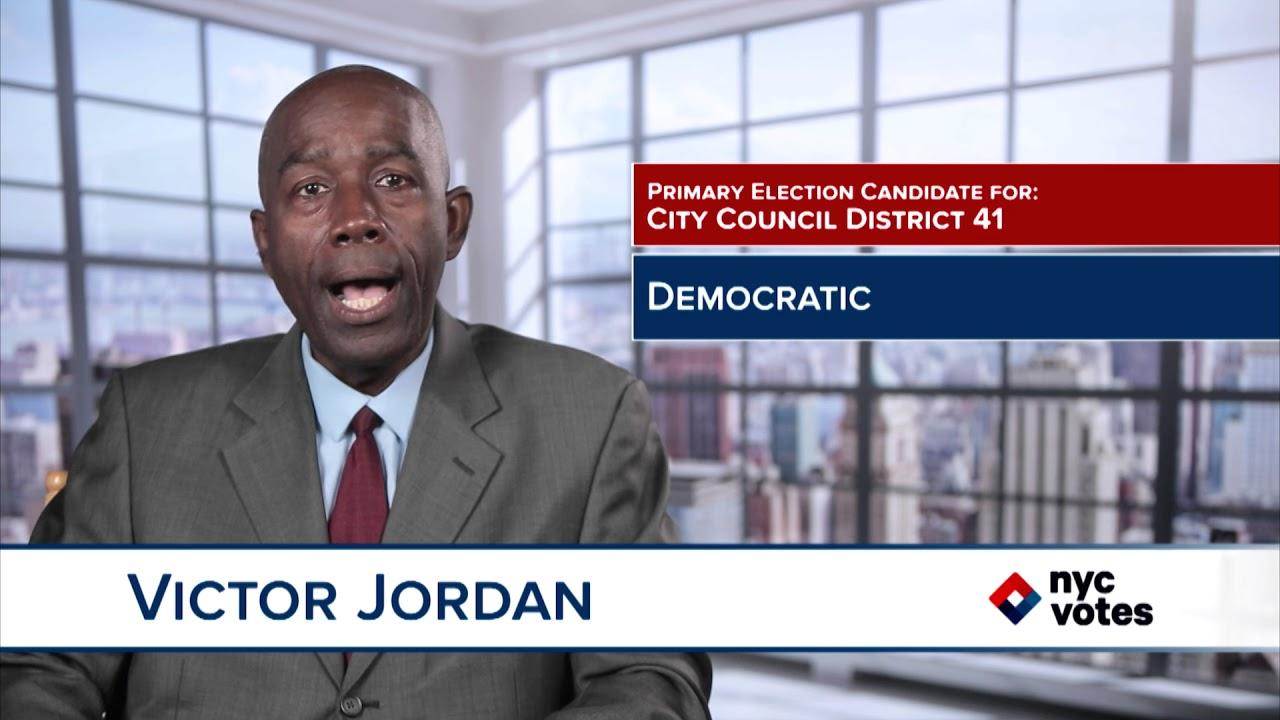 Poderoso Sentimiento de culpa casete  Victor Jordan: Candidate for Council District 41 - YouTube