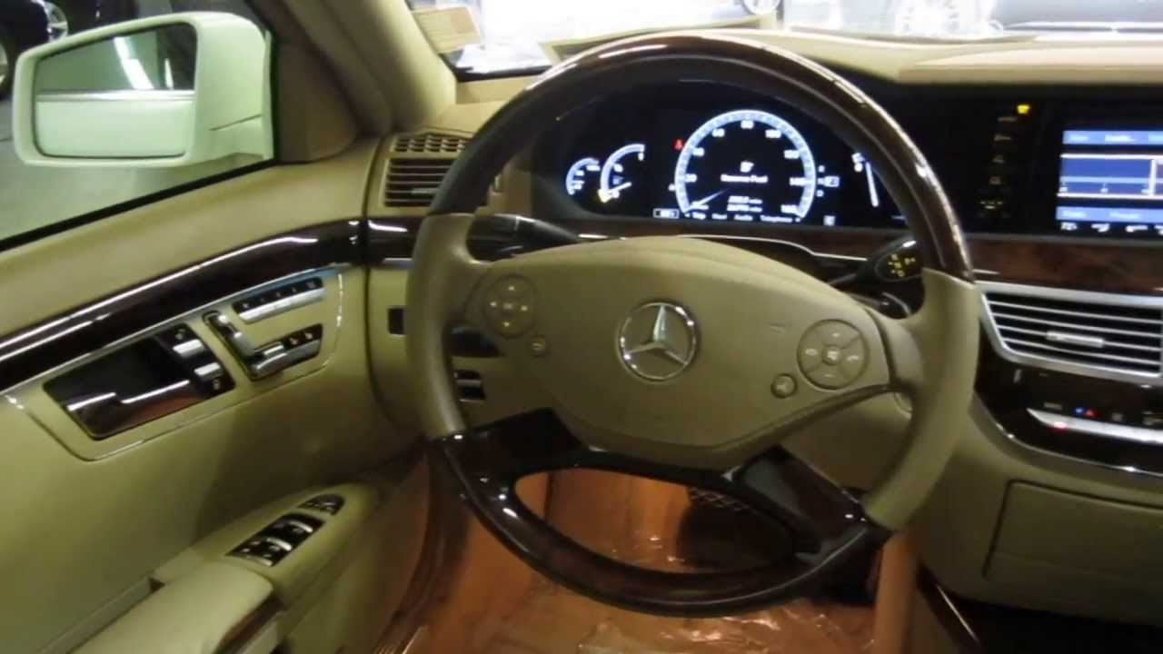 2010 mercedes benz s550 diamond white metallic stock 332848 interior youtube
