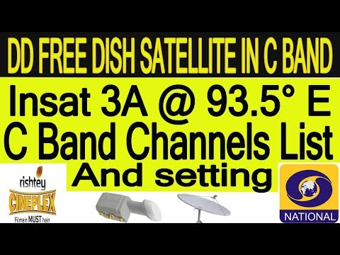 Insat 3A @ 93.5° East C band DD Free Dish Satellite INformation C Band