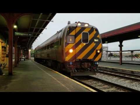 Amtrak #488 (Shuttle) Arriving at Springfield, Massachusetts