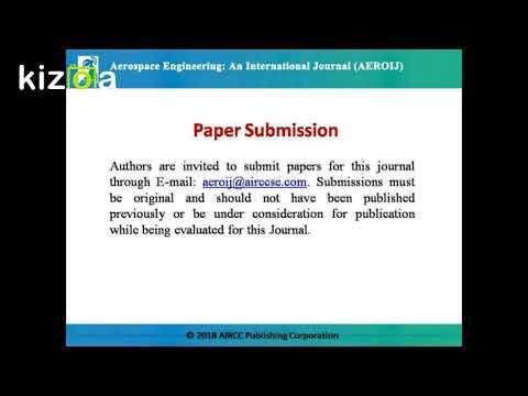 Aerospace Engineering: An International Journal (AEROIJ)