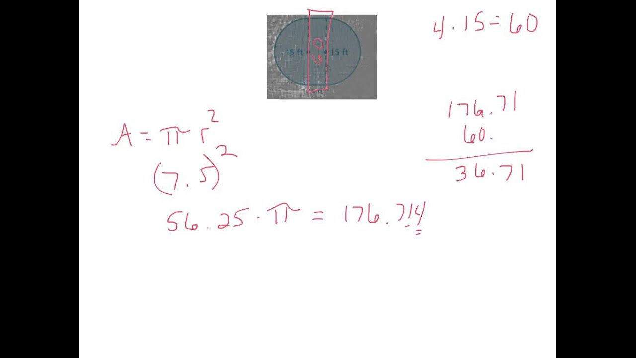 how to find area of a irregular figure