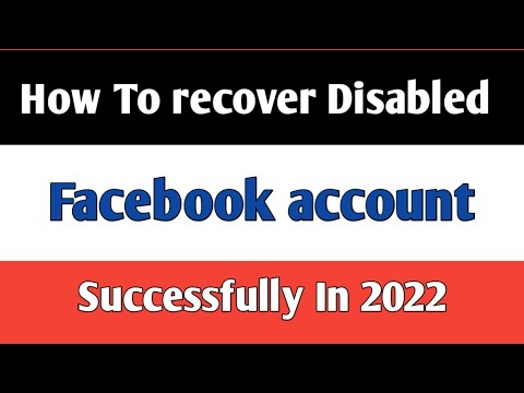 How To  Recover Disabled Facebook Account In 2 Minutes || 2020 Method