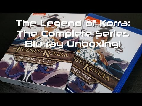The Legend of Korra: The Complete Series Blu-ray Unboxing