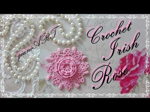 Crochet Lace Irish Rose Youtube