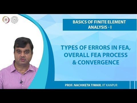 Types Of Errors In FEA, Overall FEA Process & Convergence