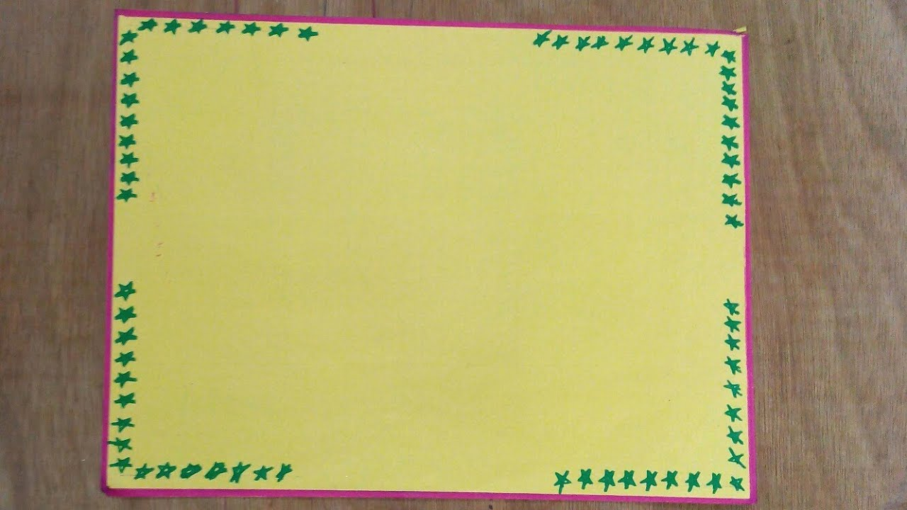 stars simple border designs on paper for school projects